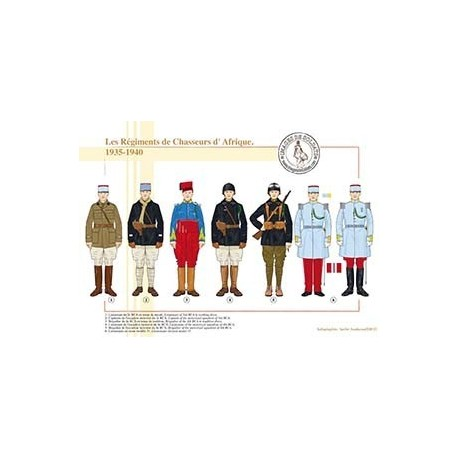 Les Régiments de Chasseurs d'Afrique, 1935-1940