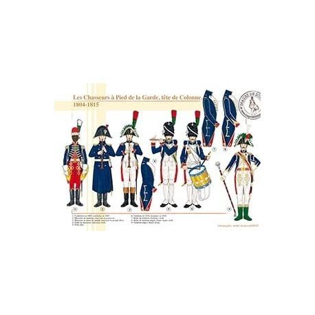 Les Chasseurs à Pied de la Garde, tête de Colonne, 1804-1815