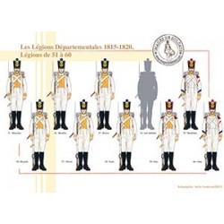 Les Légions Départementales, 1815-1820. Légions de 51 à 60