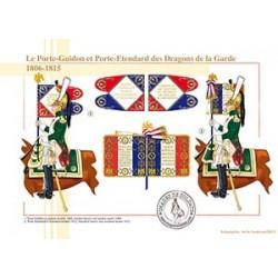 Le Porte-Guidon et Porte-Etendard des Dragons de la Garde, 1806-1815