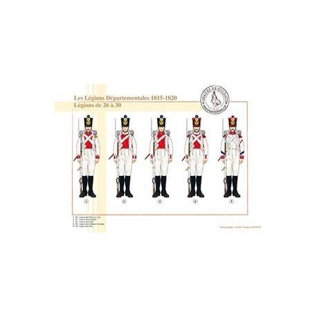 Les Légions Départementales, 1815-1820. Légions de 26 à 30