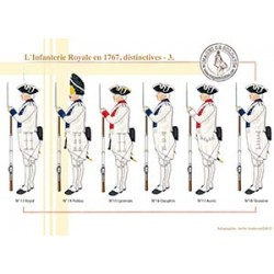 L'Infanterie Royale en 1767, distinctives (3)