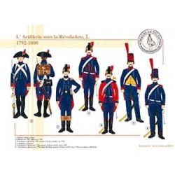 L'Artillerie sous la Révolution (2), 1792-1800