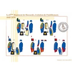 Le 8ème Régiment de Hussards, évolution de l'habillement, 1845-1870