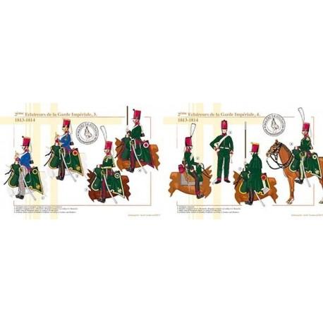 2ème Eclaireurs de la Garde Impériale (3 et 4), 1813-1814