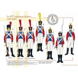 Le 4ème régiment Suisses, 1813-1815