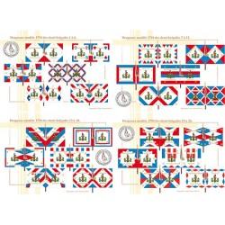 Drapeaux modèle 1794 des demi-brigades, 1 à 24 (1)
