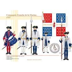 Compagnie Franche de la Marine, 1757