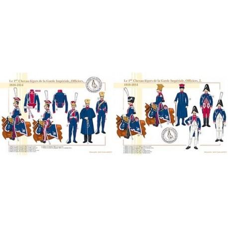 Le 1er Chevau-légers de la Garde Impériale, Officiers, 1810-1814