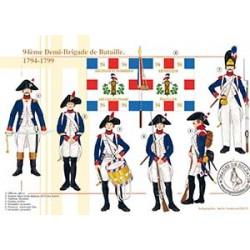94ème Demi-Brigade de Bataille, 1794-1799
