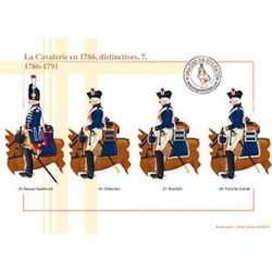 La Cavalerie en 1786, distinctives (7), 1786-1791