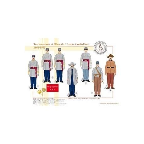 Transmissions et Génie de l'Armée Confédérée, 1861-1865