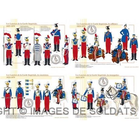 Les Lanciers de la Garde Impériale, 1854-1870