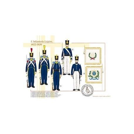 L'infanterie Légère, 1822-1830