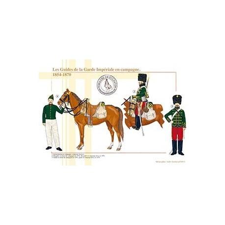 Les Guides de la Garde Impériale en campagne, 1854-1870