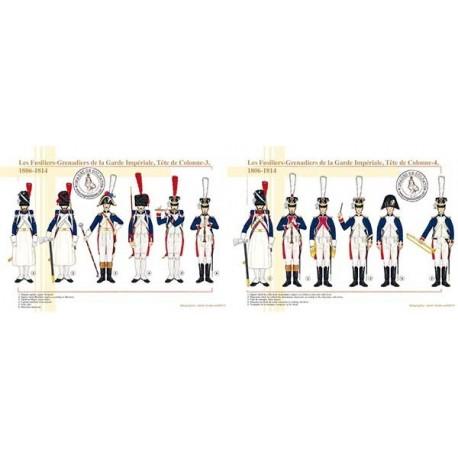 Les Fusiliers-Grenadiers de la Garde Impériale, Tête de Colonne, 1806-1814