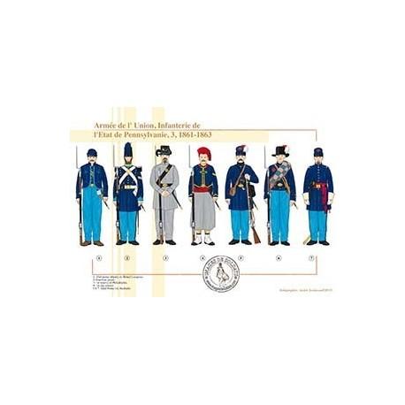 Armée de l'Union, Infanterie de l'État de Pennsylvanie (3), 1861-1863