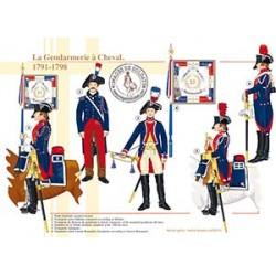 La Gendarmerie à Cheval, 1791-1798