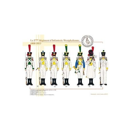 Le 5ème Régiment d'Infanterie Westphalienne, 1808-1813