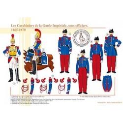 Les Carabiniers de la Garde Impériale, sous-officiers, 1865-1870