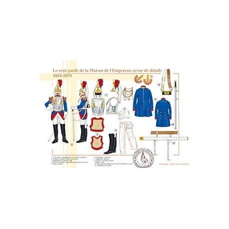 Le Cent-Garde de la Maison de l'Empereur, revue de détails, 1854-1870