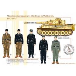Membres d'équipage des blindés de la Waffen SS, 1942-1945