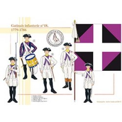 Gatinais infanterie n°18, 1779-1786