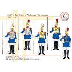 Les Cent-Gardes de la Maison de l'Empereur, 1854-1870
