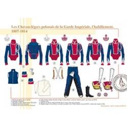 Les Chevau-légers polonais de la Garde Impériale, l'habillement, 1807-1814