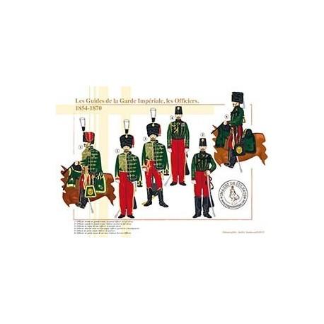 Les Guides de la Garde Impériale, les Officiers, 1854-1870