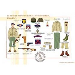 Le Fusilier-Marin du RBFM, revue de détails, 1944-1945
