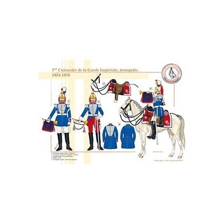 1er Cuirassier de la Garde Impériale, trompette, 1854-1870