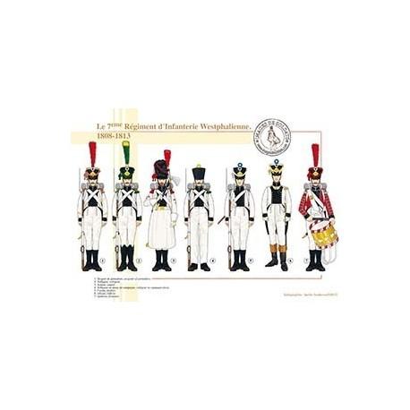 Le 7ème Régiment d'Infanterie Westphalienne, 1808-1813