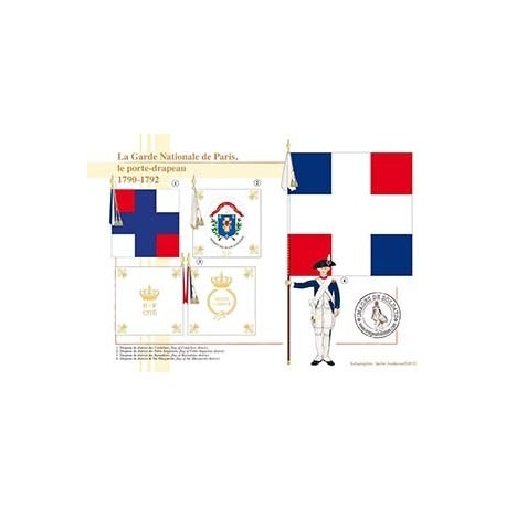 La Garde Nationale de Paris, le porte-drapeau, 1790-1792