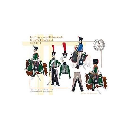 Le 1er régiment d'Eclaireurs de la Garde Impériale (4), 1813-1814