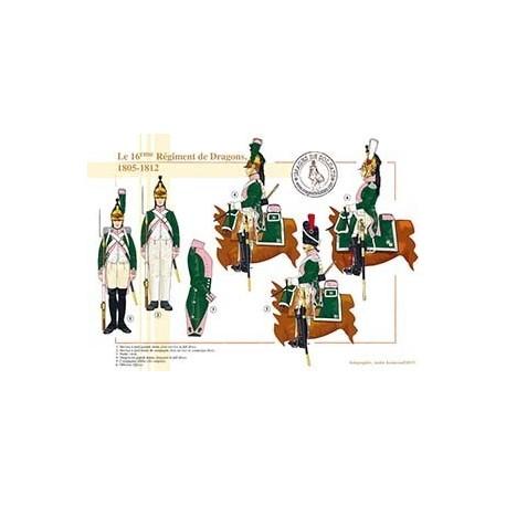 Le 16ème Régiment de Dragons, 1805-1812