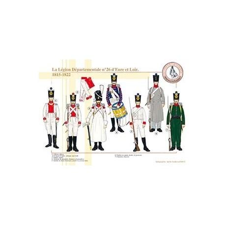 La Légion Départementale n°26 d'Eure et Loir, 1815-1822