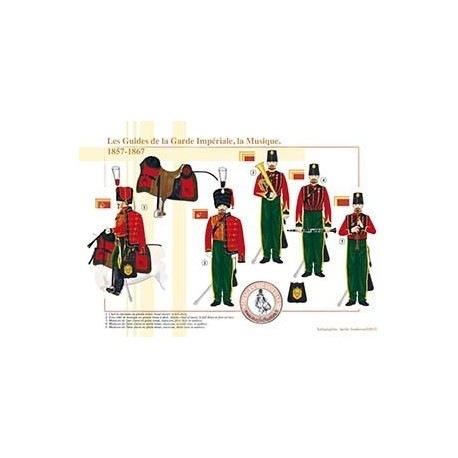 Les Guides de la Garde Impériale, la Musique, 1857-1867