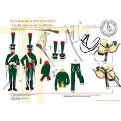 Le Chasseur à cheval en habit à la Kinski, revue de détails, 1809-1812