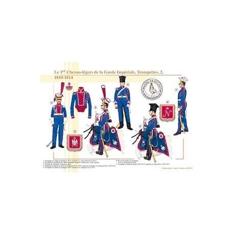 Le 1er Chevau-légers de la Garde Impériale, Trompettes (2), 1810-1814