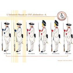L'Infanterie Royale en 1767, distinctives (4)