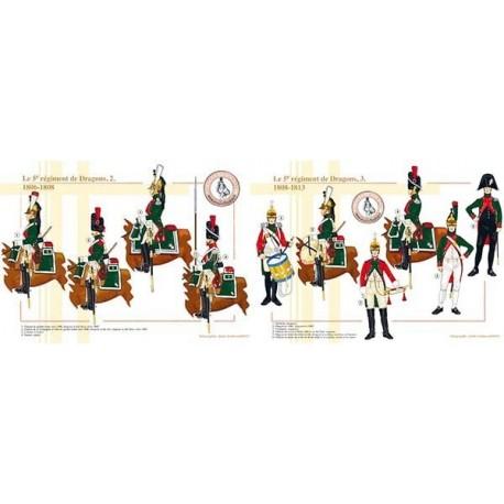 Le 5ème régiment de Dragons (2 et 3), 1806-1813