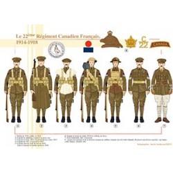Le 22ème Régiment Canadien Français, 1914-1918