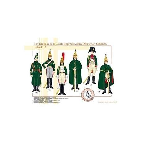Les Dragons de la Garde Impériale, Sous-Officiers et Officiers,1806-1815