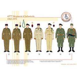 43ème Régiment d'Infanterie, 1965-1975