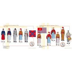 L'Infanterie de l'état de Louisiane, CSA, 1861-1865