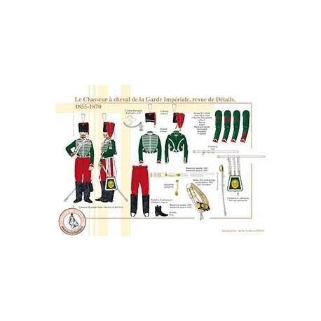 Le Chasseur à cheval de la Garde Impériale, revue de Détails, 1855-1870
