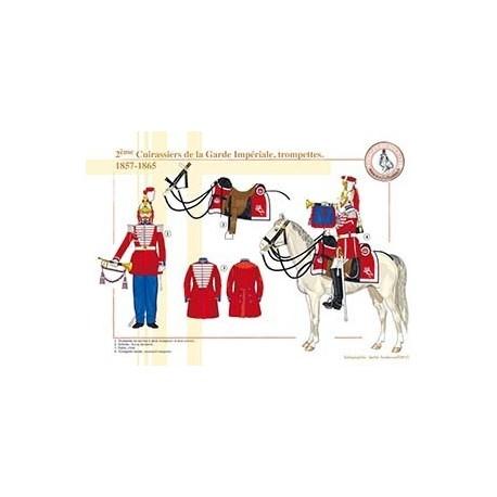 2ème Cuirassiers de la Garde Impériale, trompettes, 1857-1865