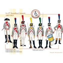 Le 1er Bataillon Colonial, 1803-1813