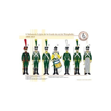 L'Infanterie Légère de la Garde du roi de Westphalie, 1808-1813